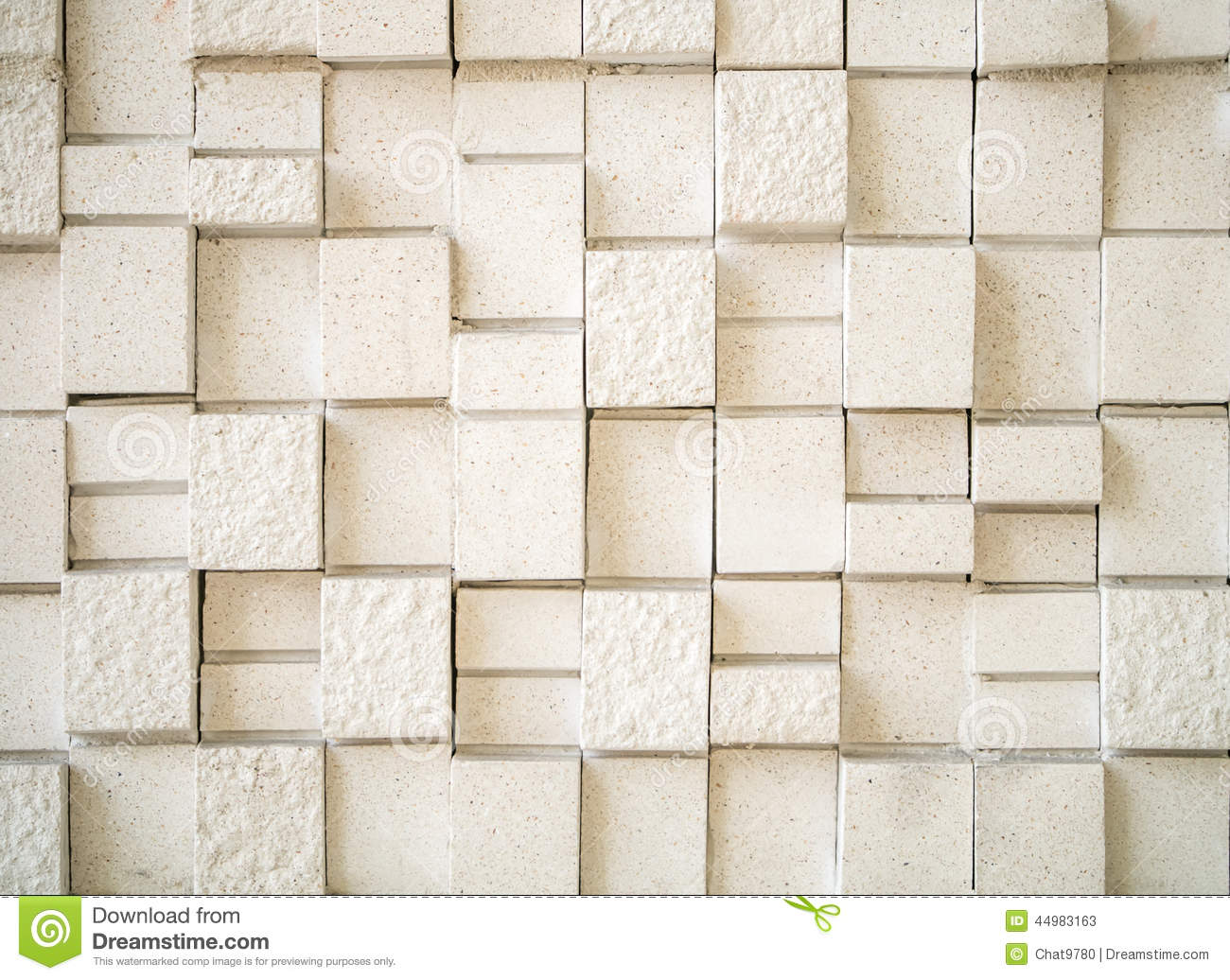 artificial beige geometry pattern stone tile wall