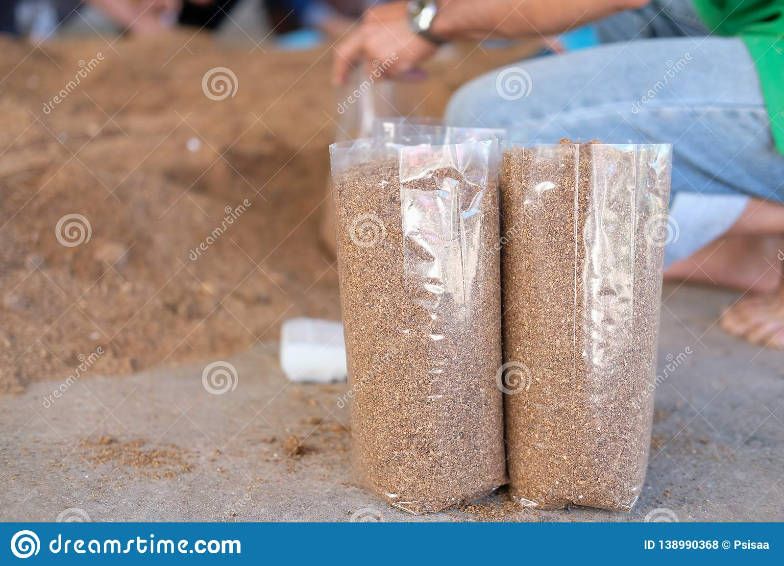 Artificial Substrate For Growing Mushroom In Bag In Farm