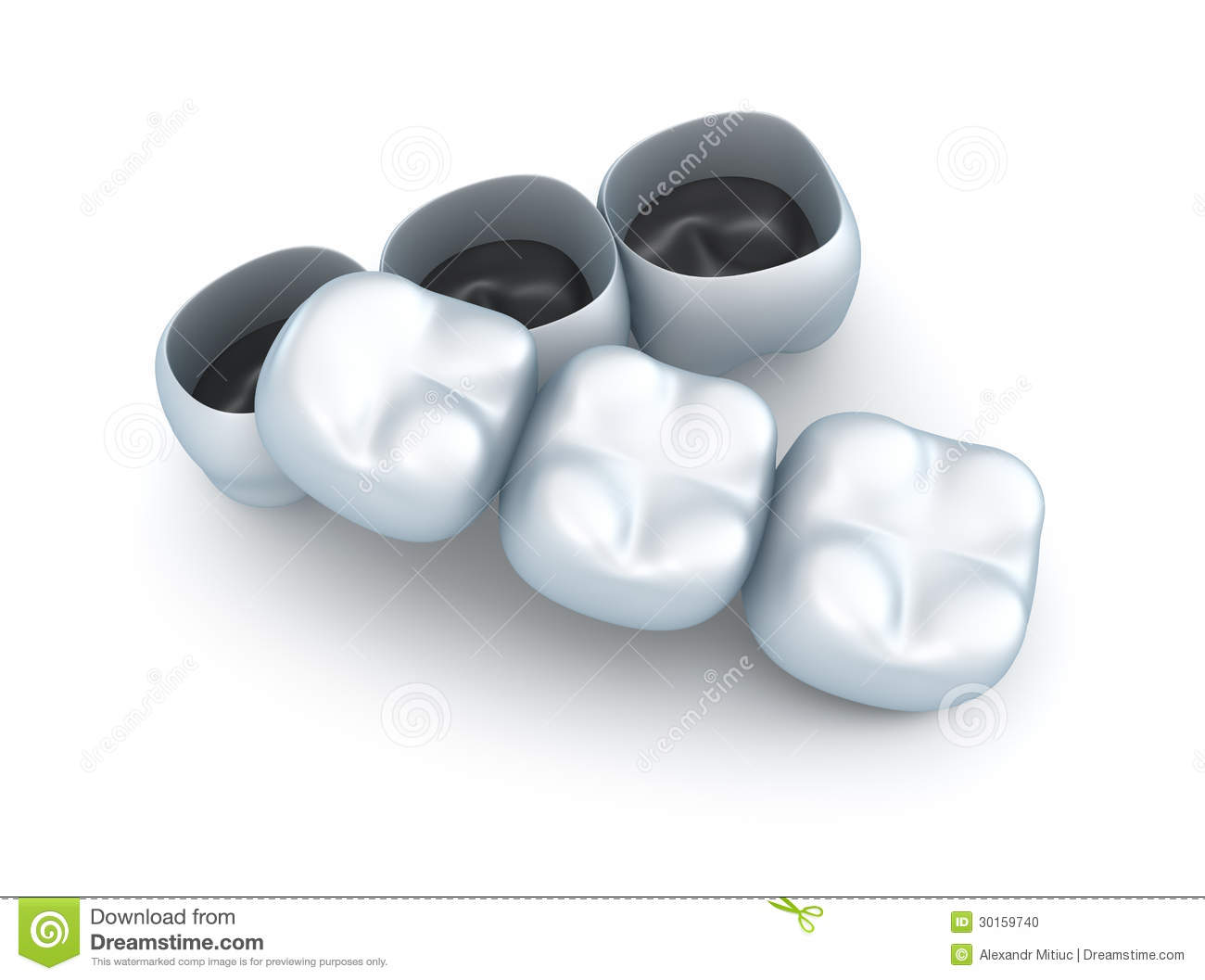 Artificial Tooth Crowns Stock Illustration Image Of