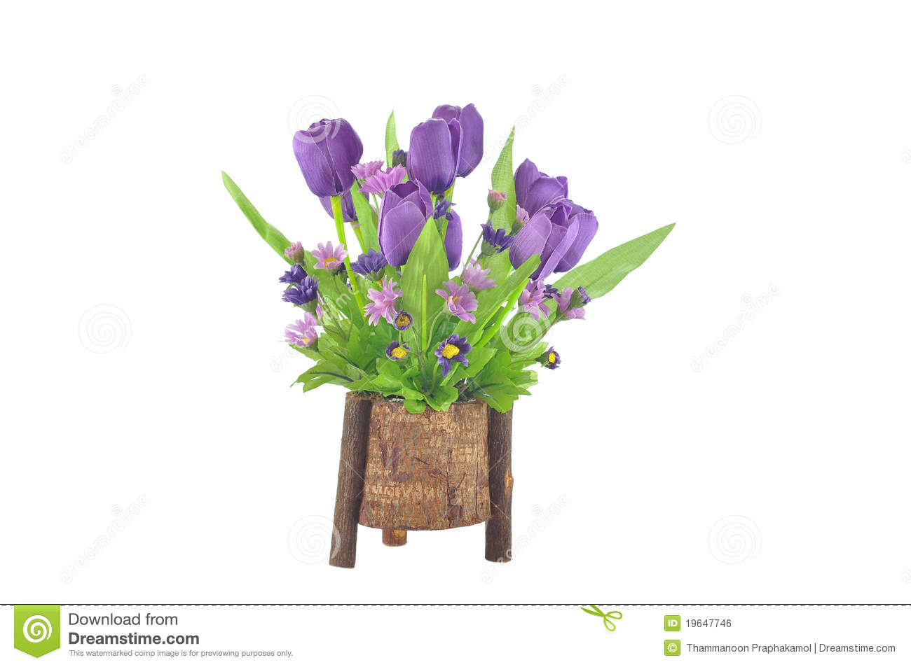 Artificial Tulip Flower Arrangement Stock Photo  Image: 19647746