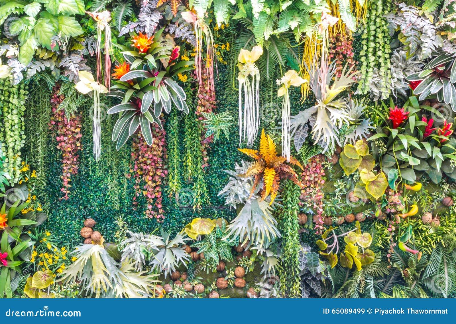 Artificial vertical garden wall stock image image 65089499 for Garden plants