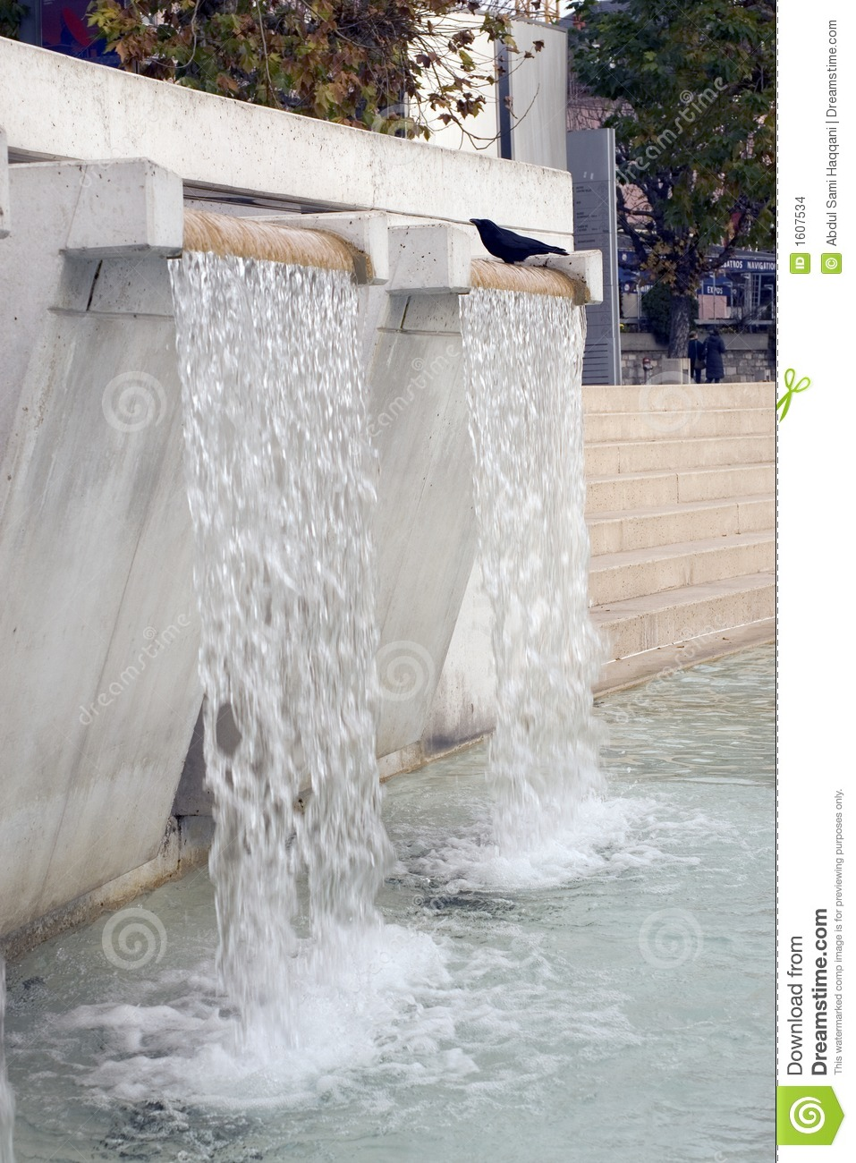 Artificial Waterfall Fountain 5868 Stock Photo Image 1607534