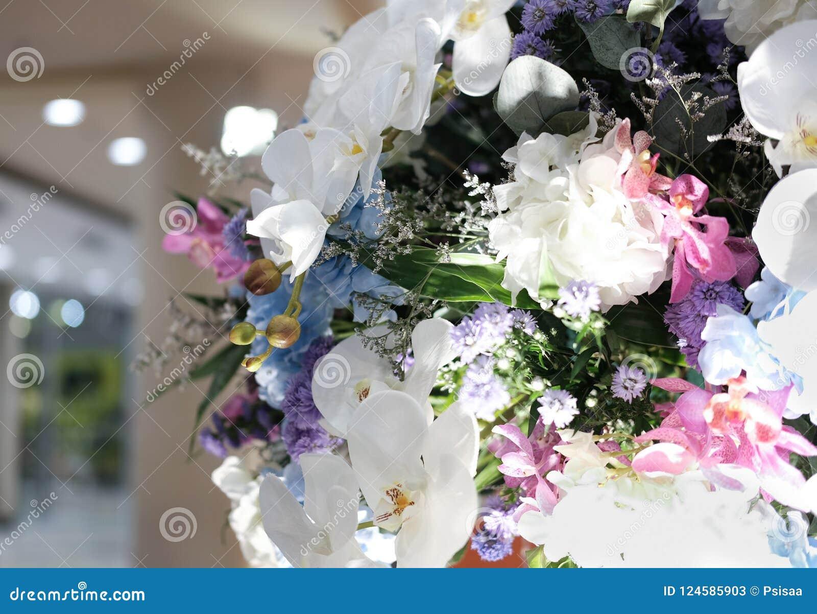 Artificial white orchid flower bouquet stock image image of design download artificial white orchid flower bouquet stock image image of design decoration 124585903 izmirmasajfo