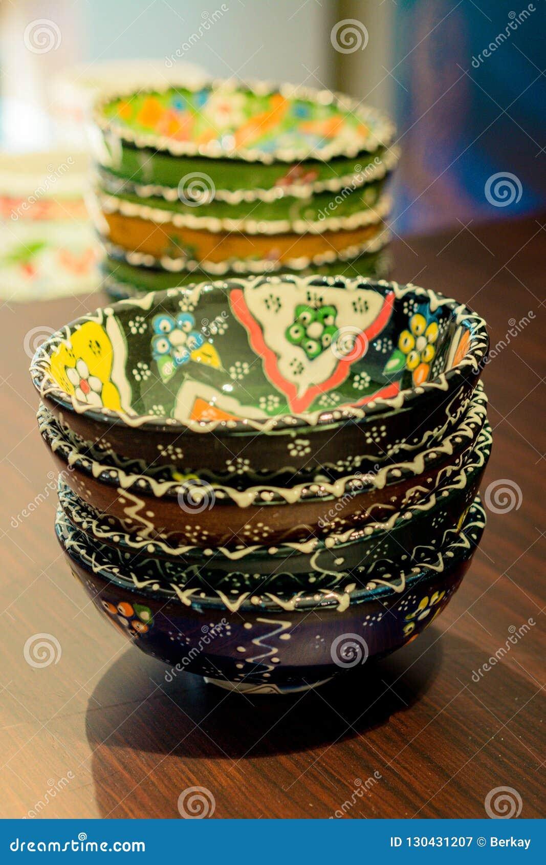 Artigo cerâmico turco tradicional da cerâmica