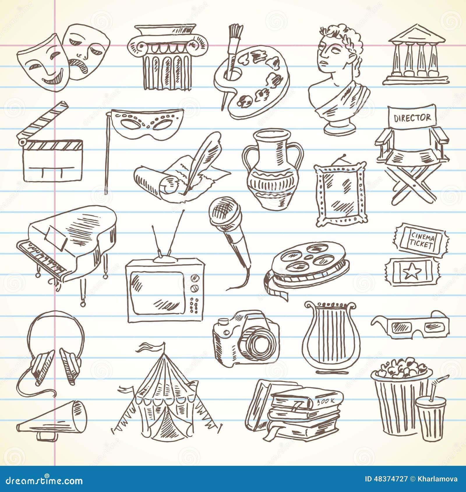 Artigos da cultura e da arte do desenho a mão livre