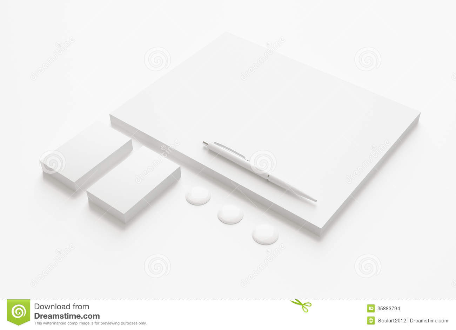 Artigos de papelaria vazios/grupo incorporado da identificação