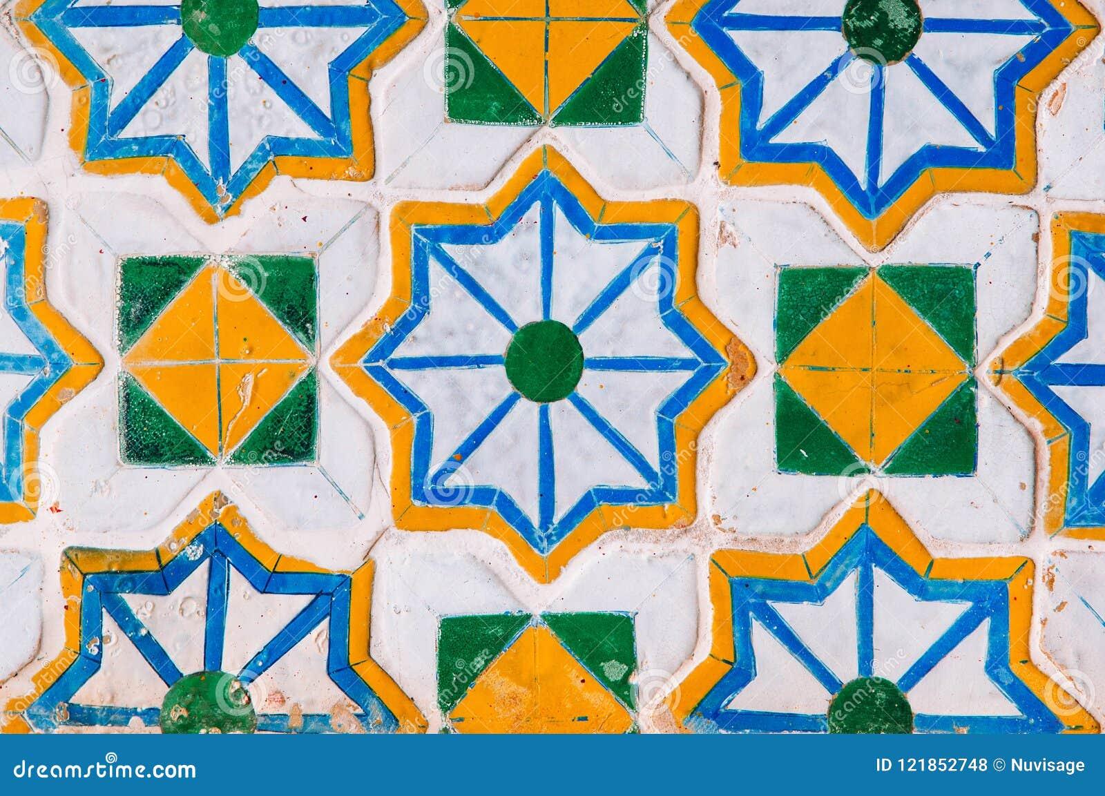 Artisan Ceramic Ornamental Mosaic Tiles Of Bangkok Grand Palace