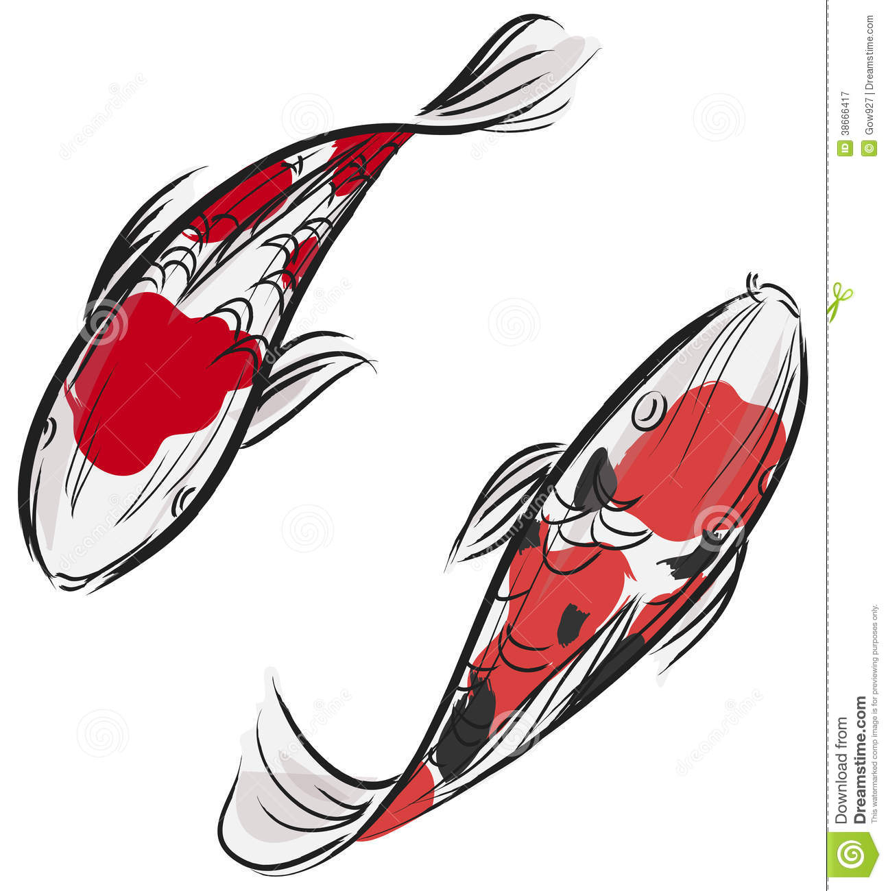 Artisic painting of japanese carp fish koi stock vector for Koi fish vector