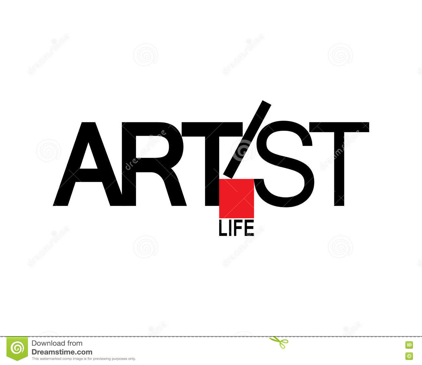 Artist Logo Design Stock Vector Illustration Of Shape 82252936