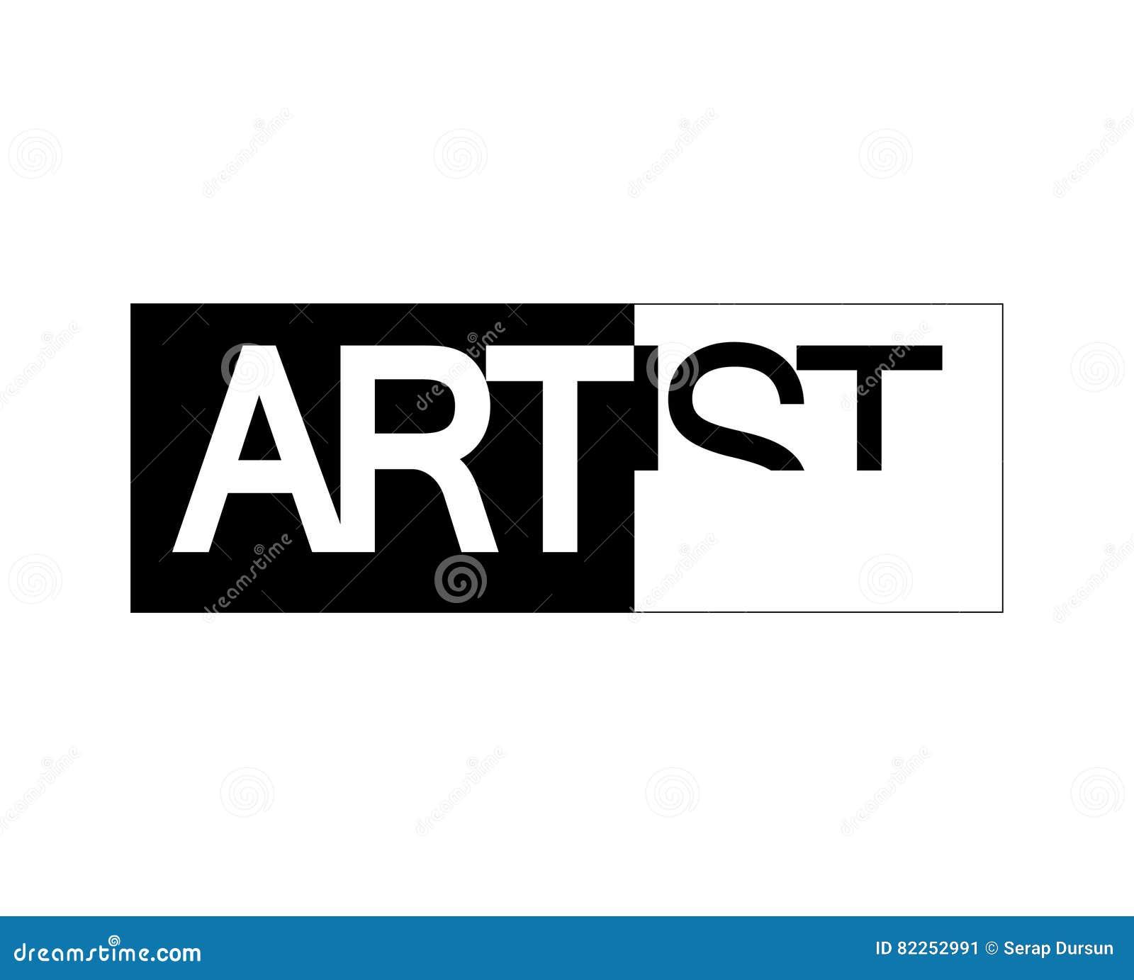 artist logo design stock vector image 82252991