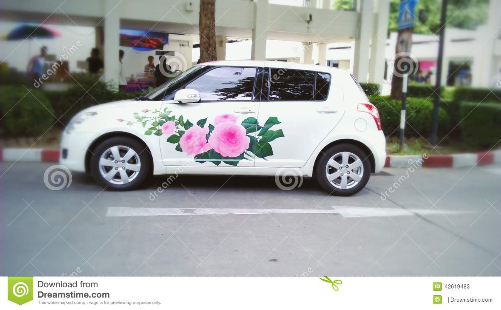 Artist Mini Car Editorial Stock Photo Image Of Painting 42619483