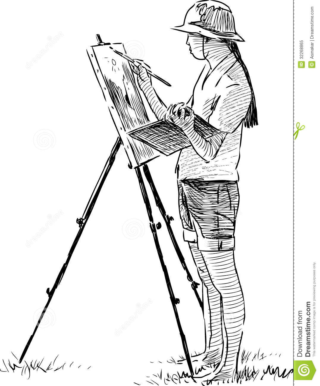 Artist In Plein Air Royalty Free Stock Photo Image 32268865