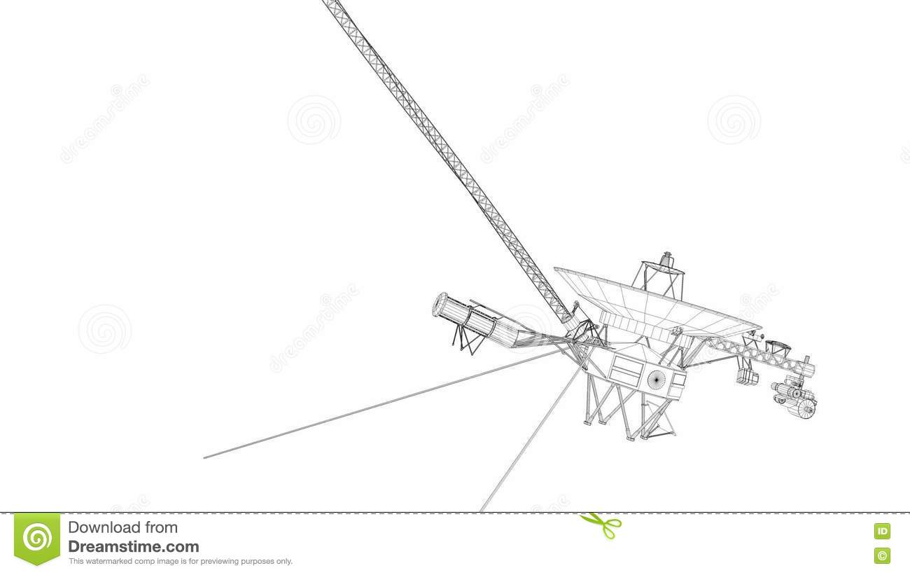 Artist Rendering Voyager Space Probe Stock Footage Video Of Further 2 Spacecraft Diagram On Spaceship Cape 77850048