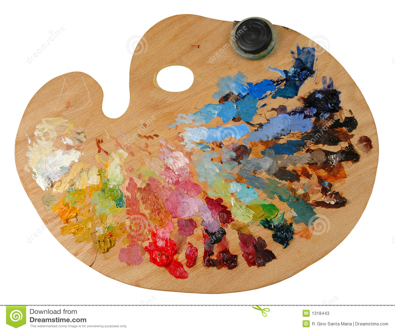 artist s palette stock image image of green solvent 1318443