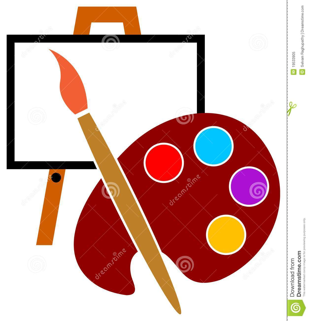 Artist studio logo stock vector illustration of for Painting and decorating logo ideas