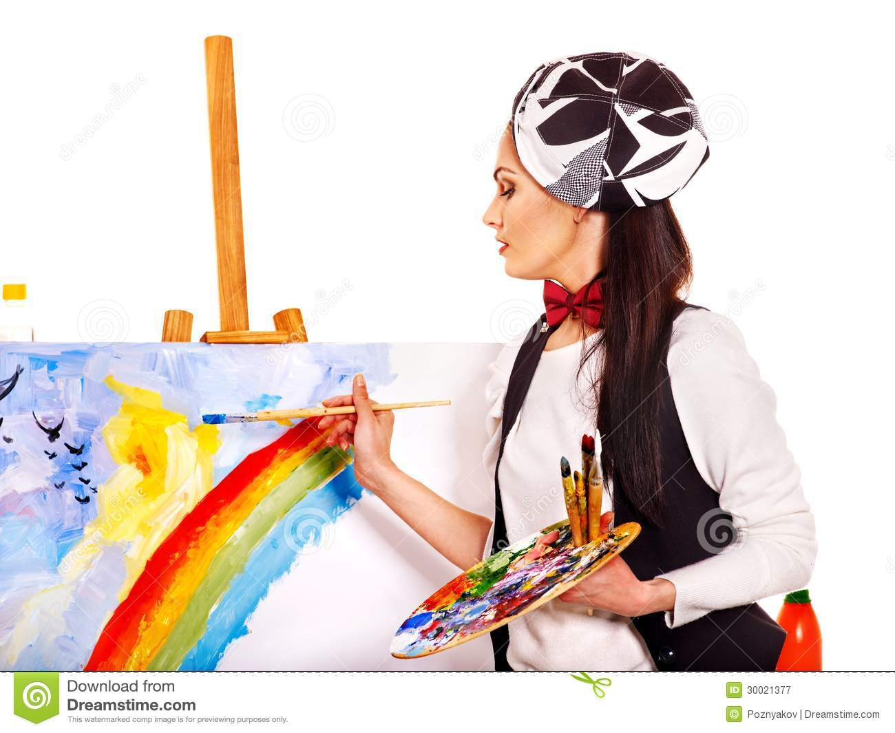 Female Artist At Work. Royalty Free Stock Photography ...