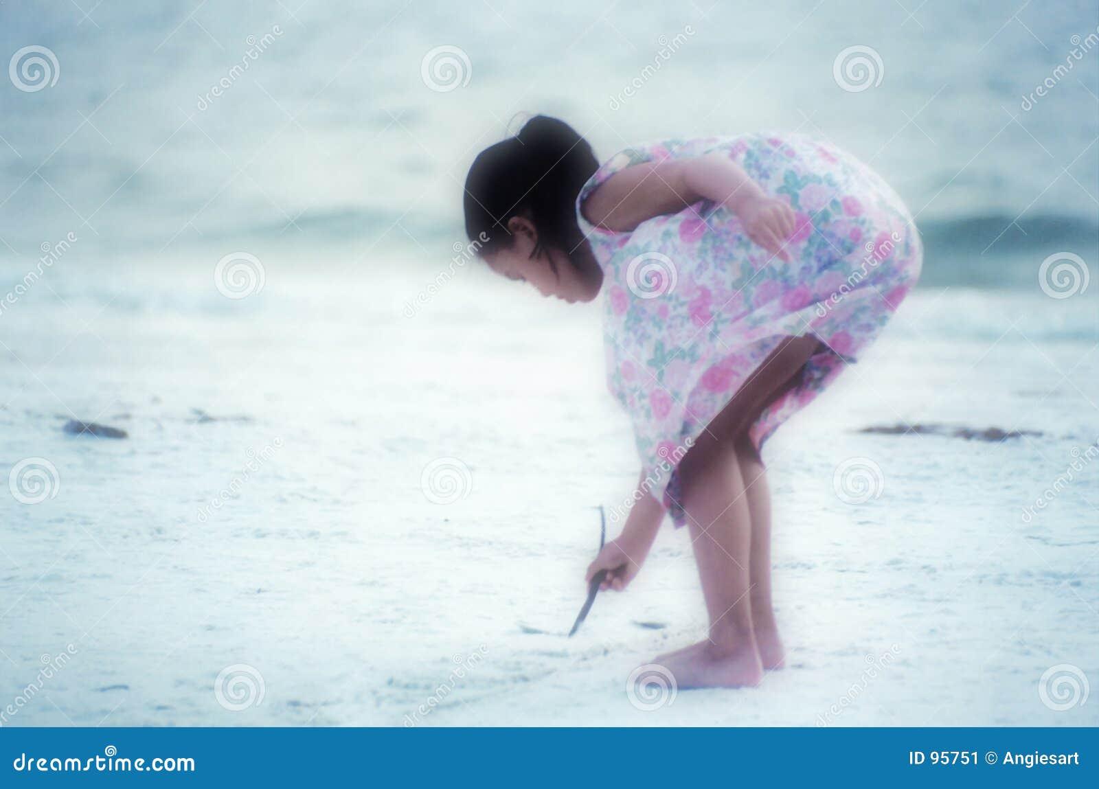 Artista della spiaggia (fuoco molle)