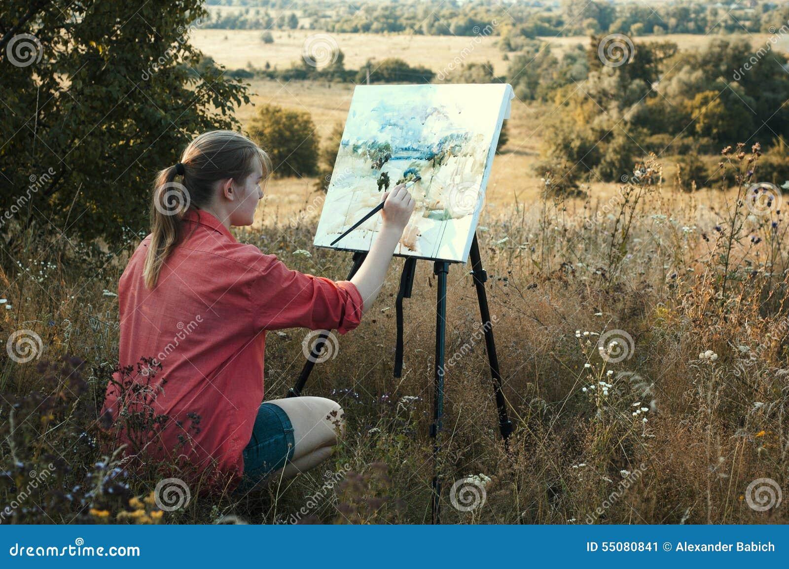 Artista en el aire llano