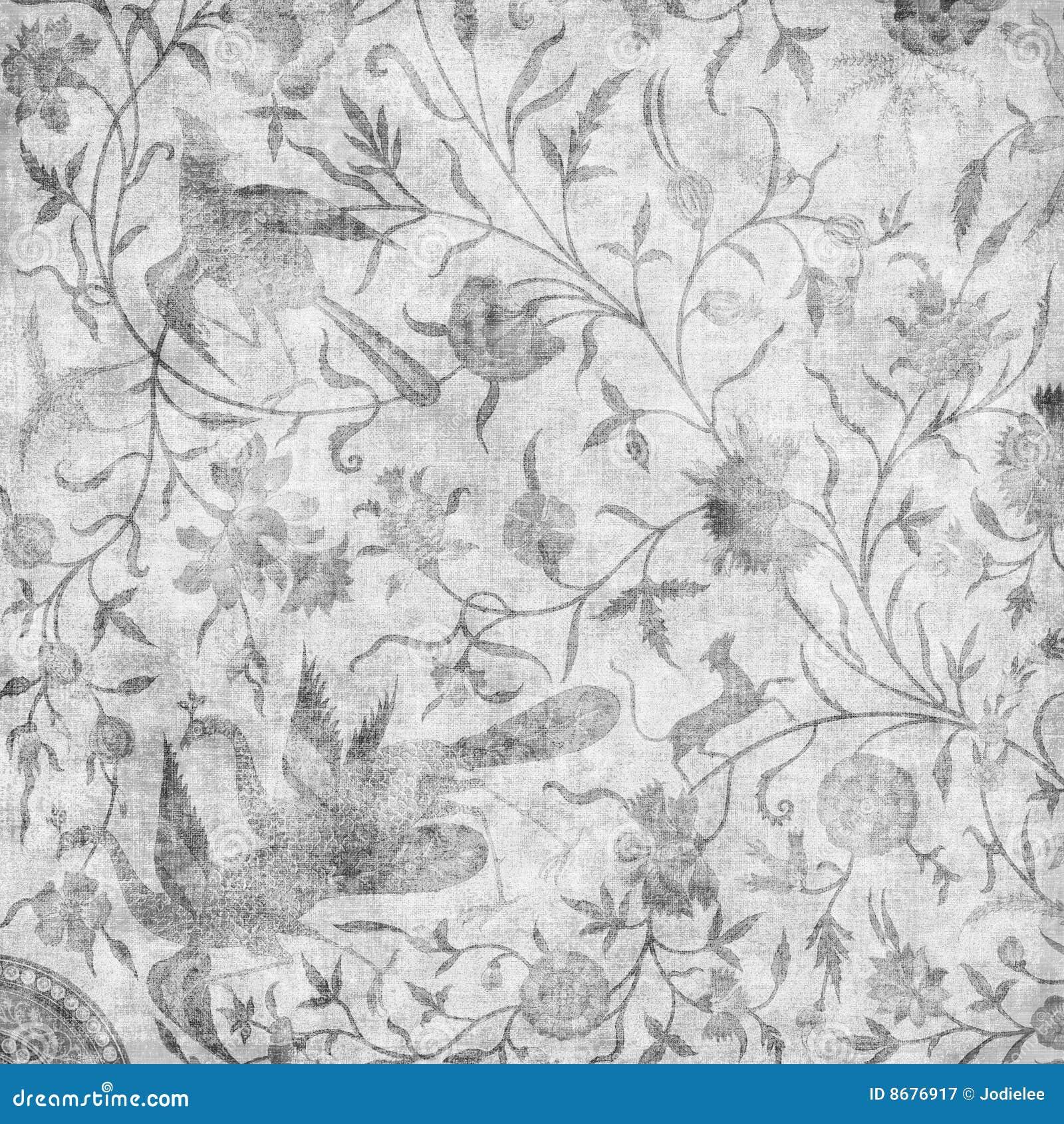 Artisti Batik Asian Floral Design Background