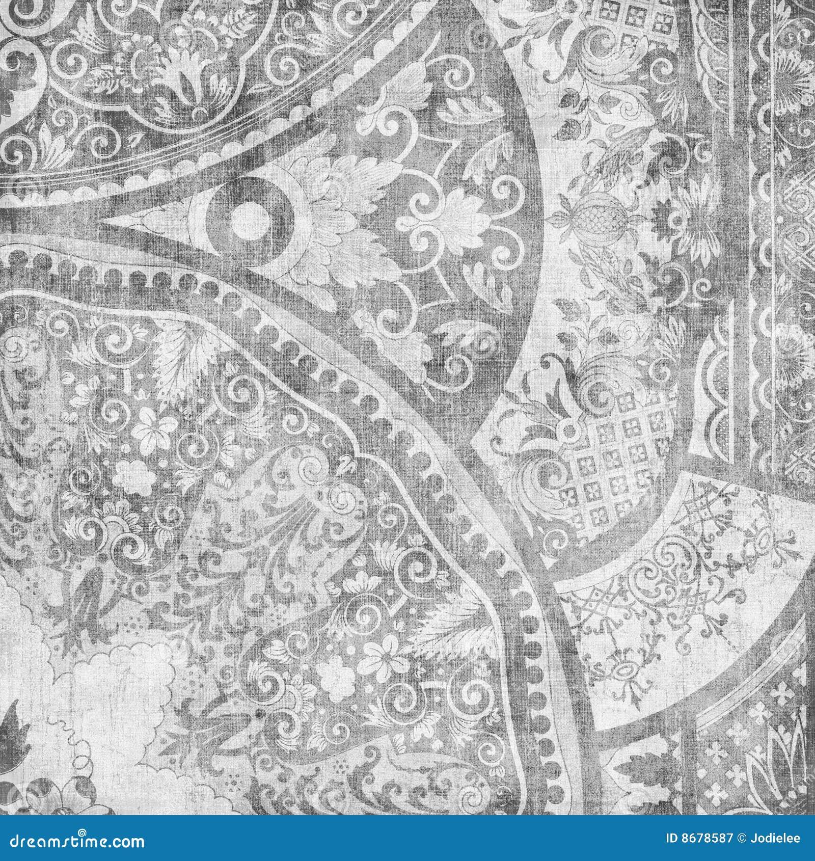 Artisti Batik Floral Design Background Royalty Free Stock Photography ...