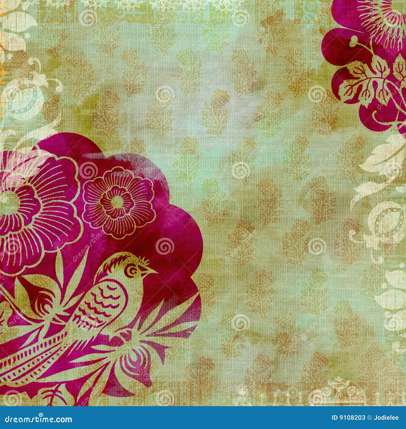 Artisti Batik Floral Design Background