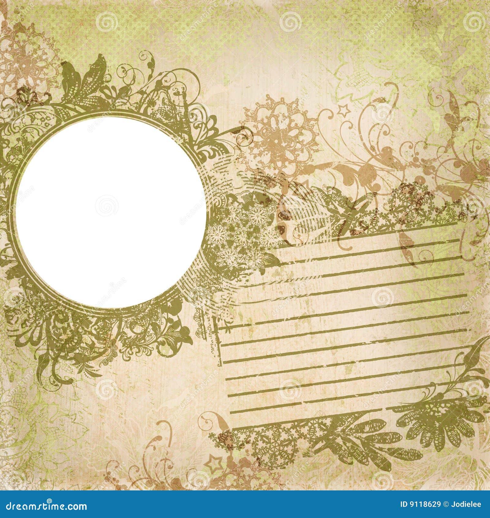 Artisti Batik Floral Design Frame Background Stock