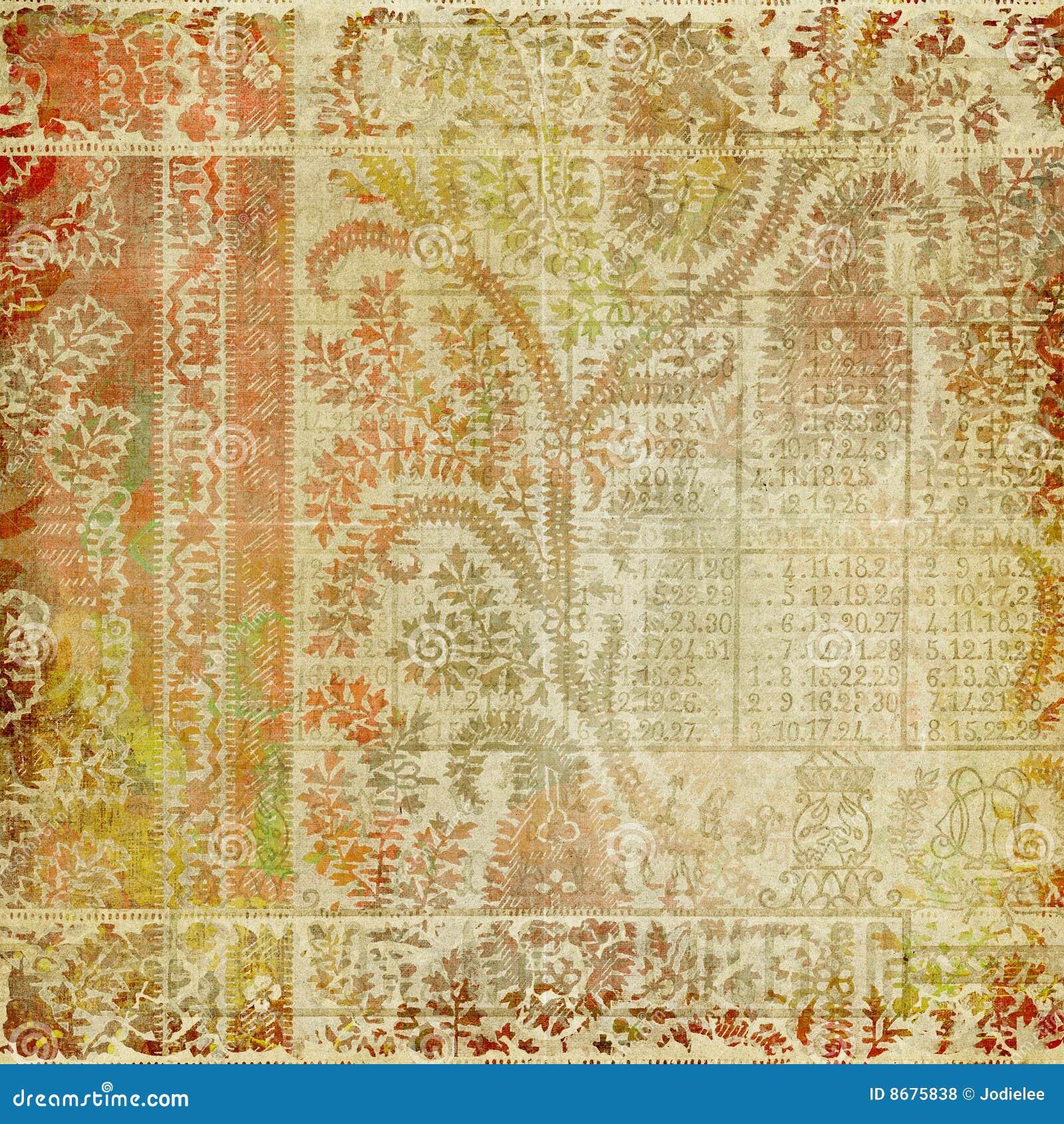 Artisti Batik Paisley Design Background Stock Illustration