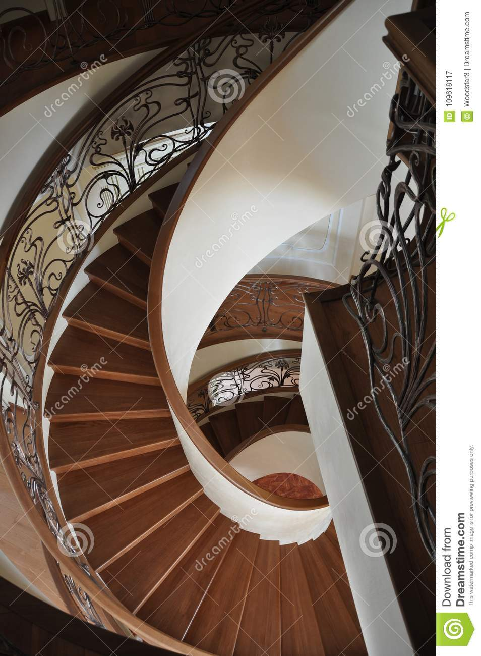 Download Exclusive Spiral Staircase Is Located In A House On The Black Sea  Coast.Odessa
