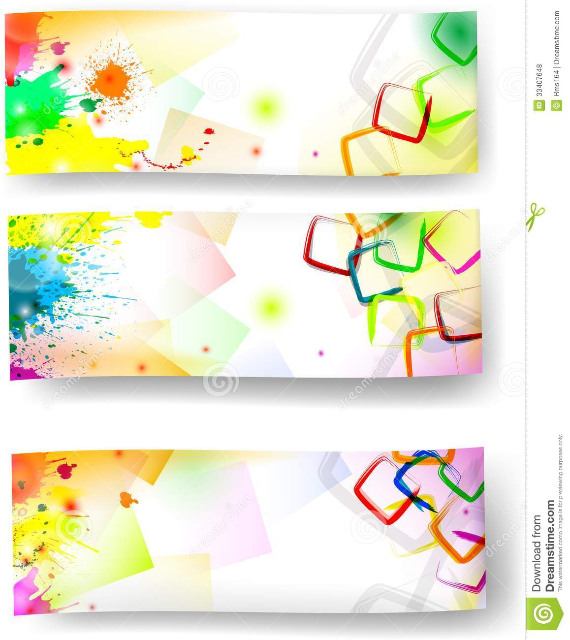 artistic banners stock vector illustration of sales 33407648