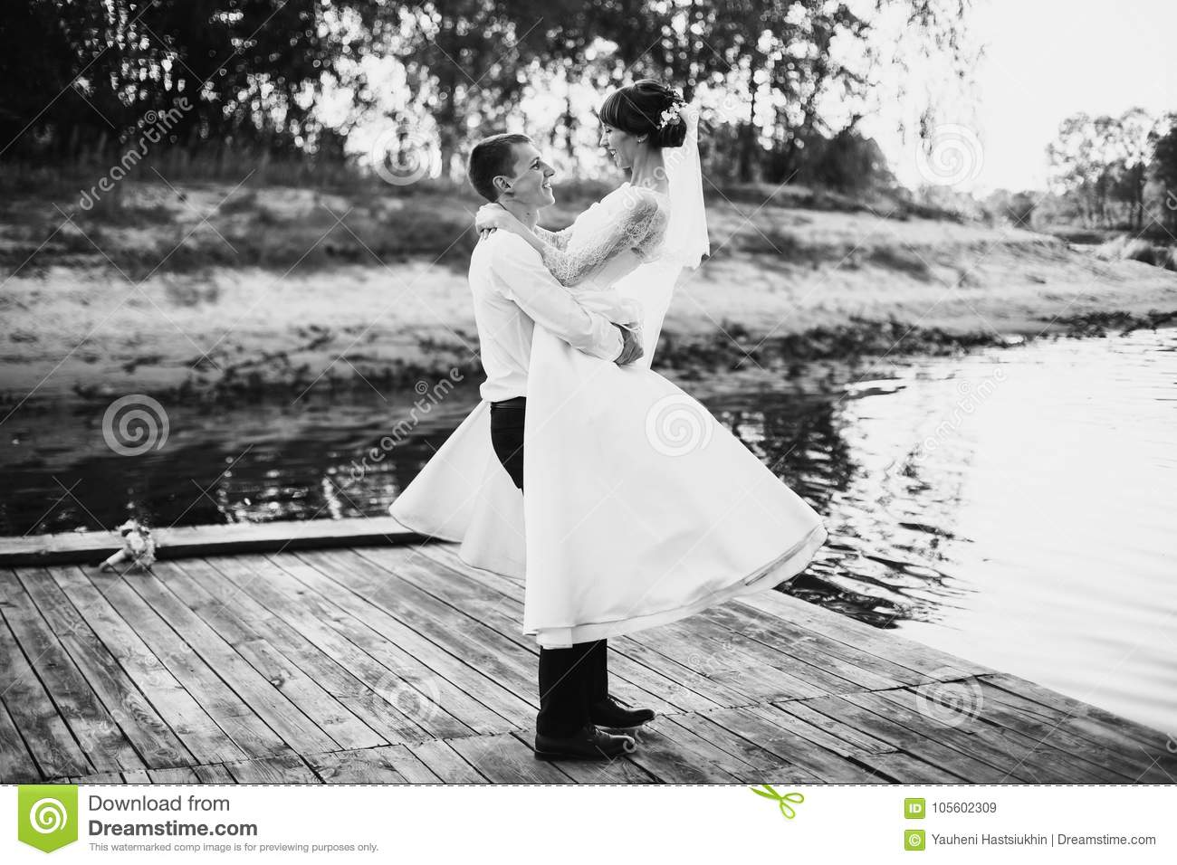 Artistic black and white photography wedding photography