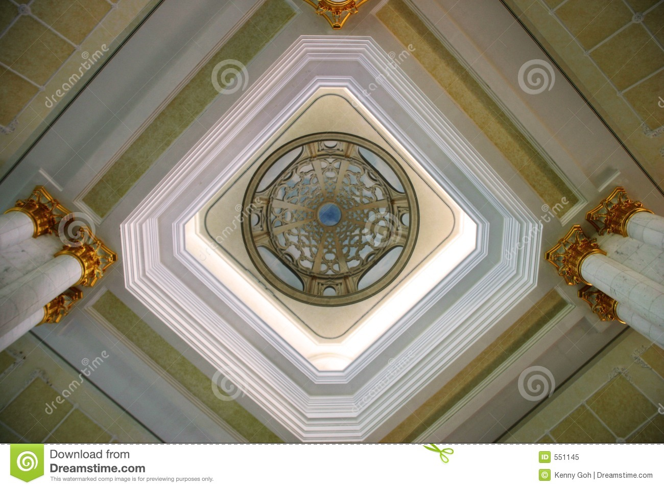 Royalty Free Stock Photo: Artistic Ceiling Design