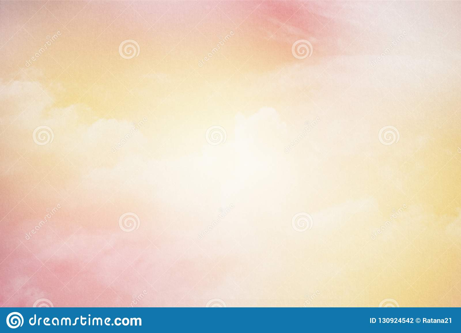 0e56a86943 Artistic cloudy sky with pastel gradient color and grunge paper texture