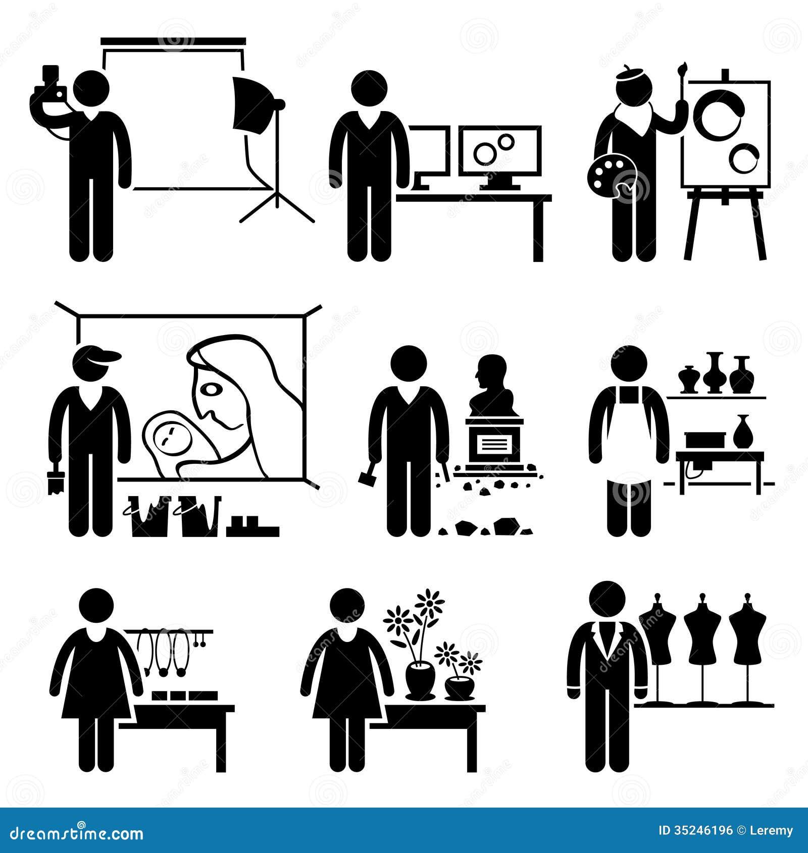 Careers: Artistic Designer Jobs Occupations Careers Stock Vector