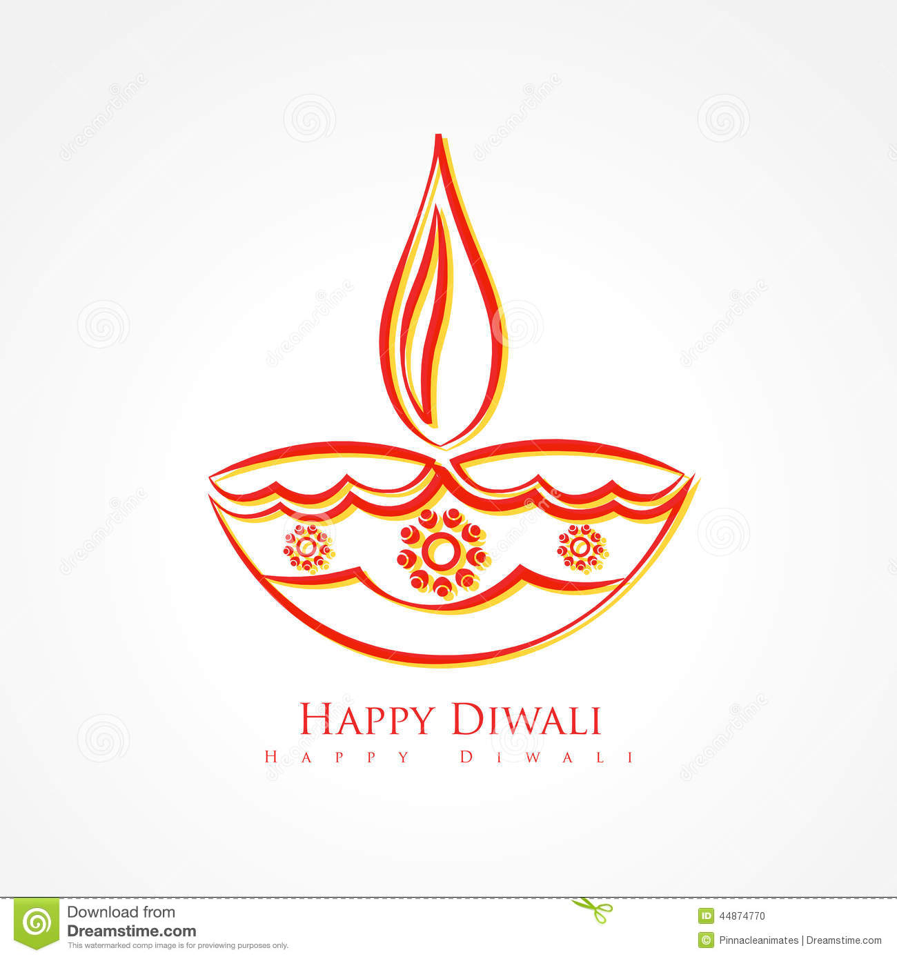 Artistic diwali diya isolated on white background stock vector artistic diwali diya isolated on white background m4hsunfo