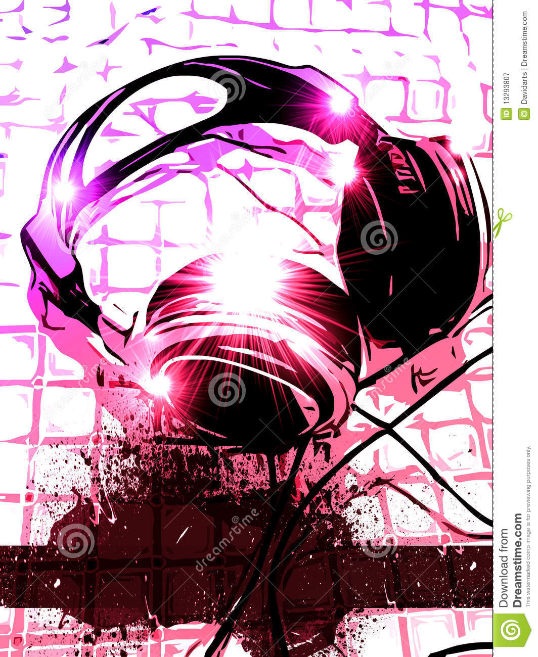 Artistic Dj Handset Music Background Stock Illustration Image 13293807