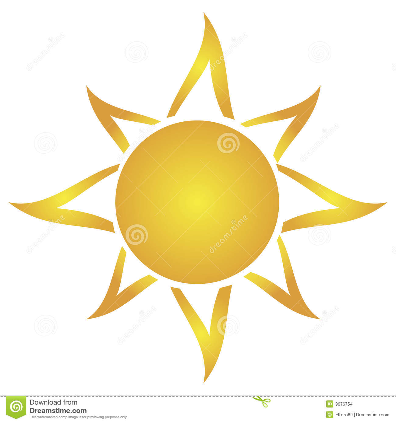Artistic Drawing Sun Stock Images - Image: 9676754