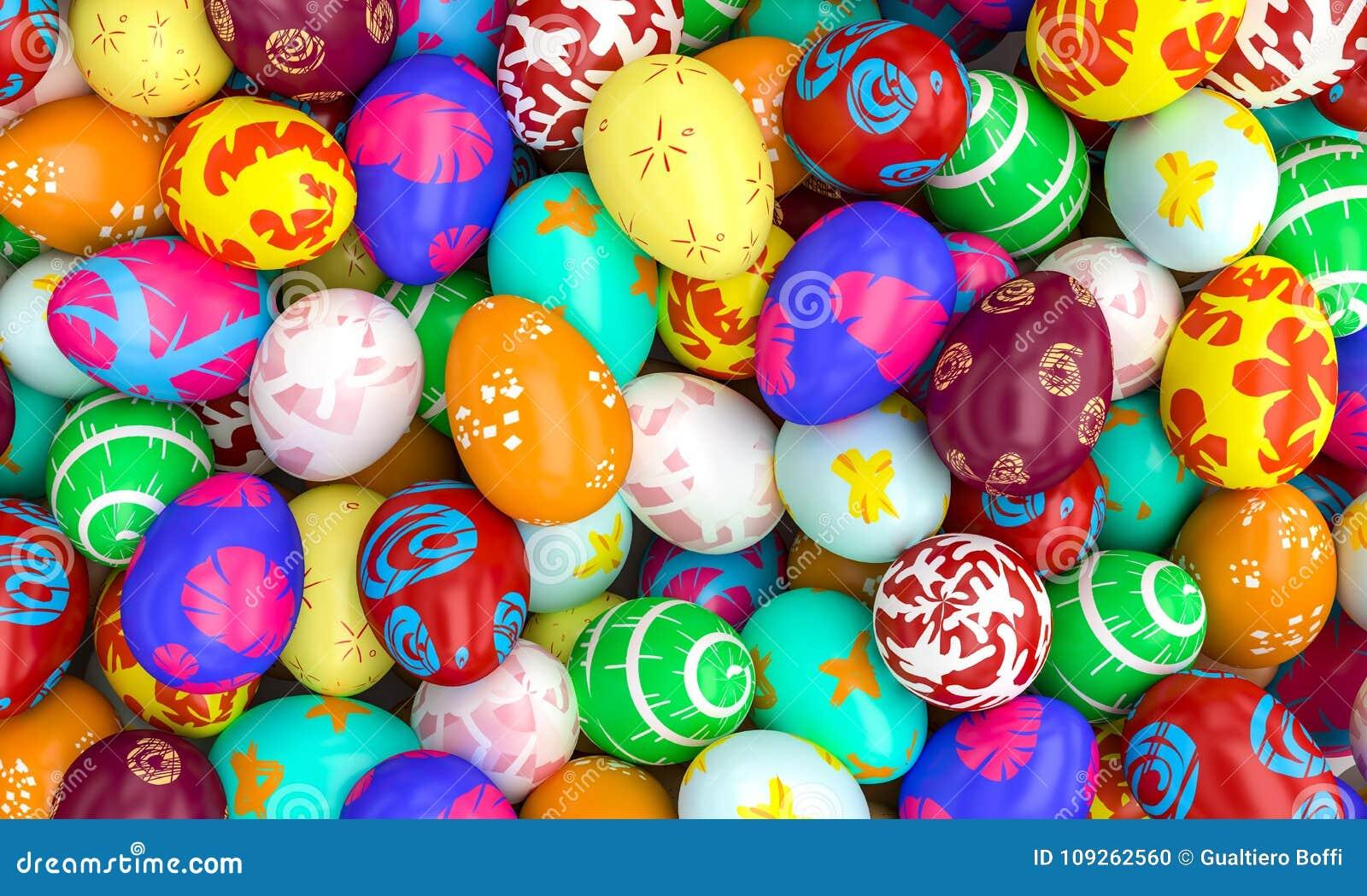 Artistic easter eggs