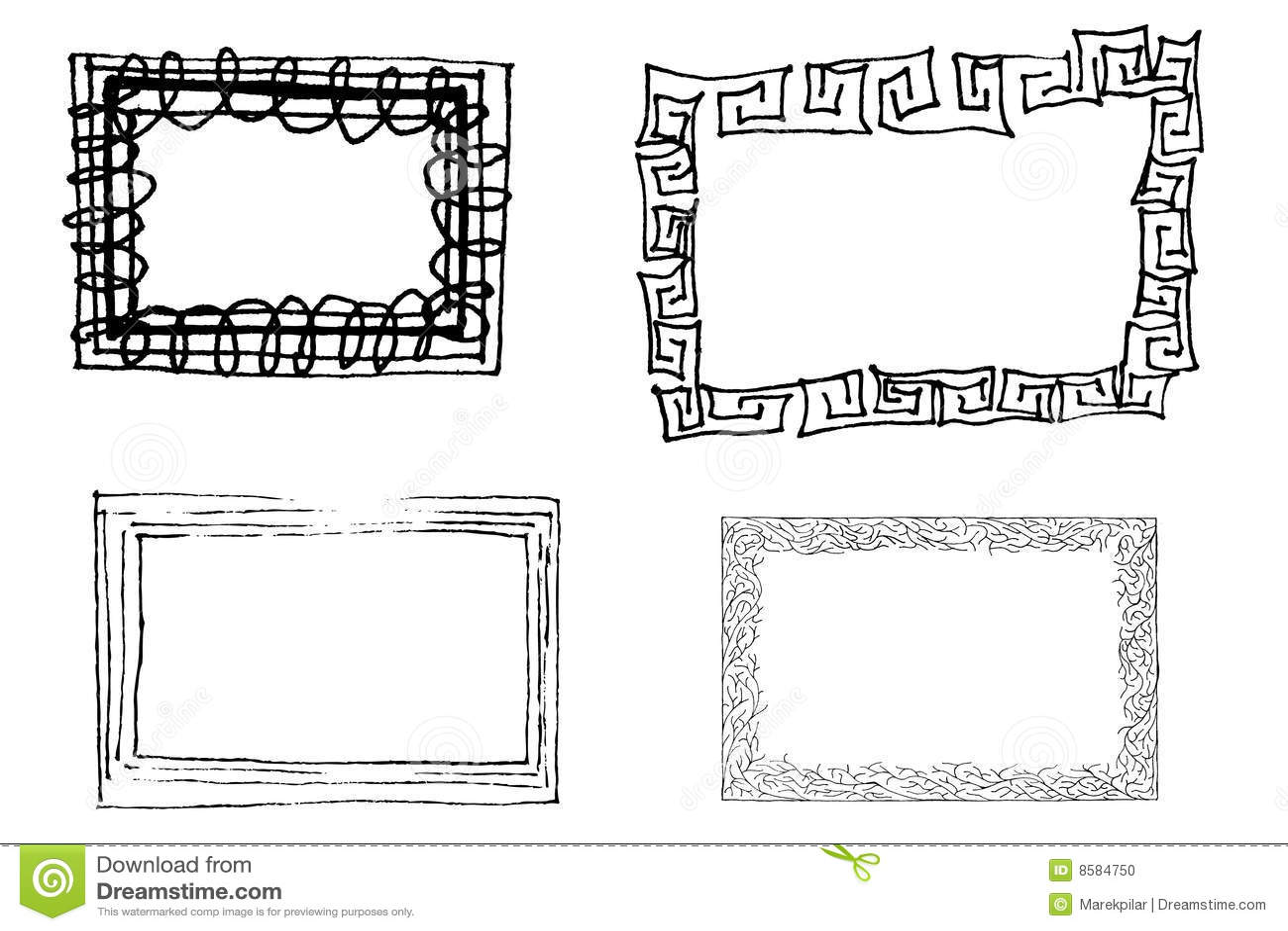 Artistic frames stock vector. Illustration of floral, ornament - 8584750