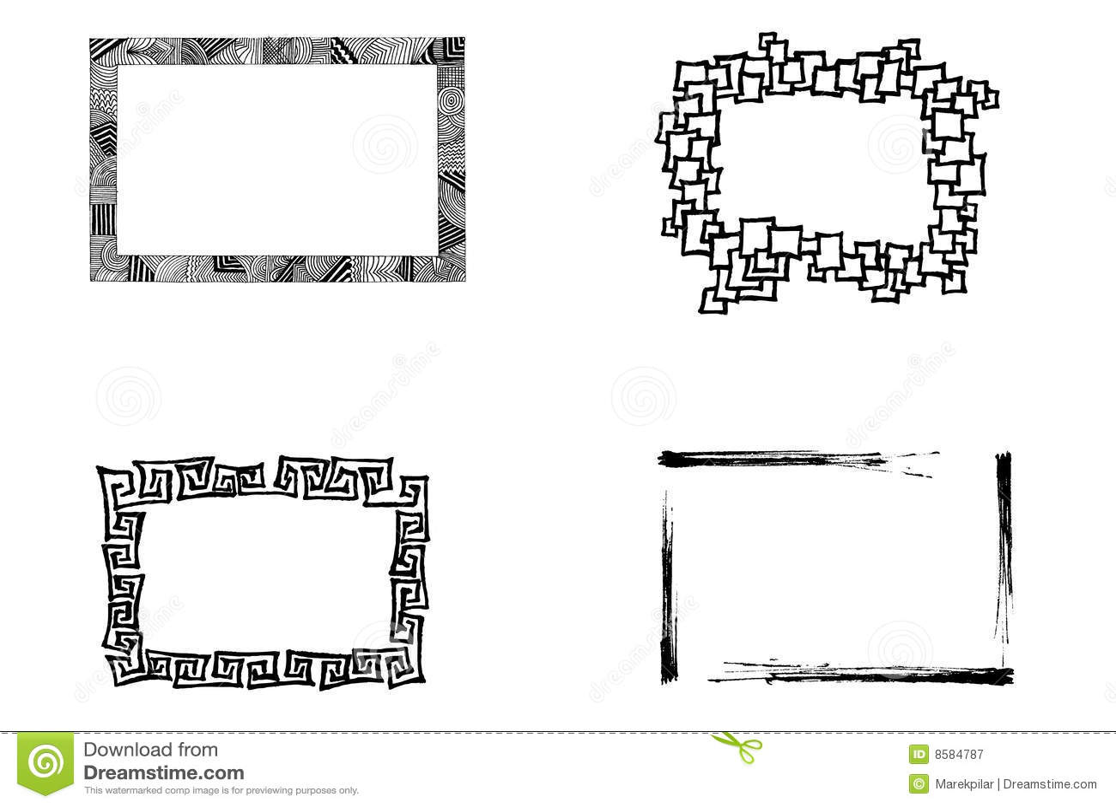 Artistic frames stock vector. Illustration of frames, background ...