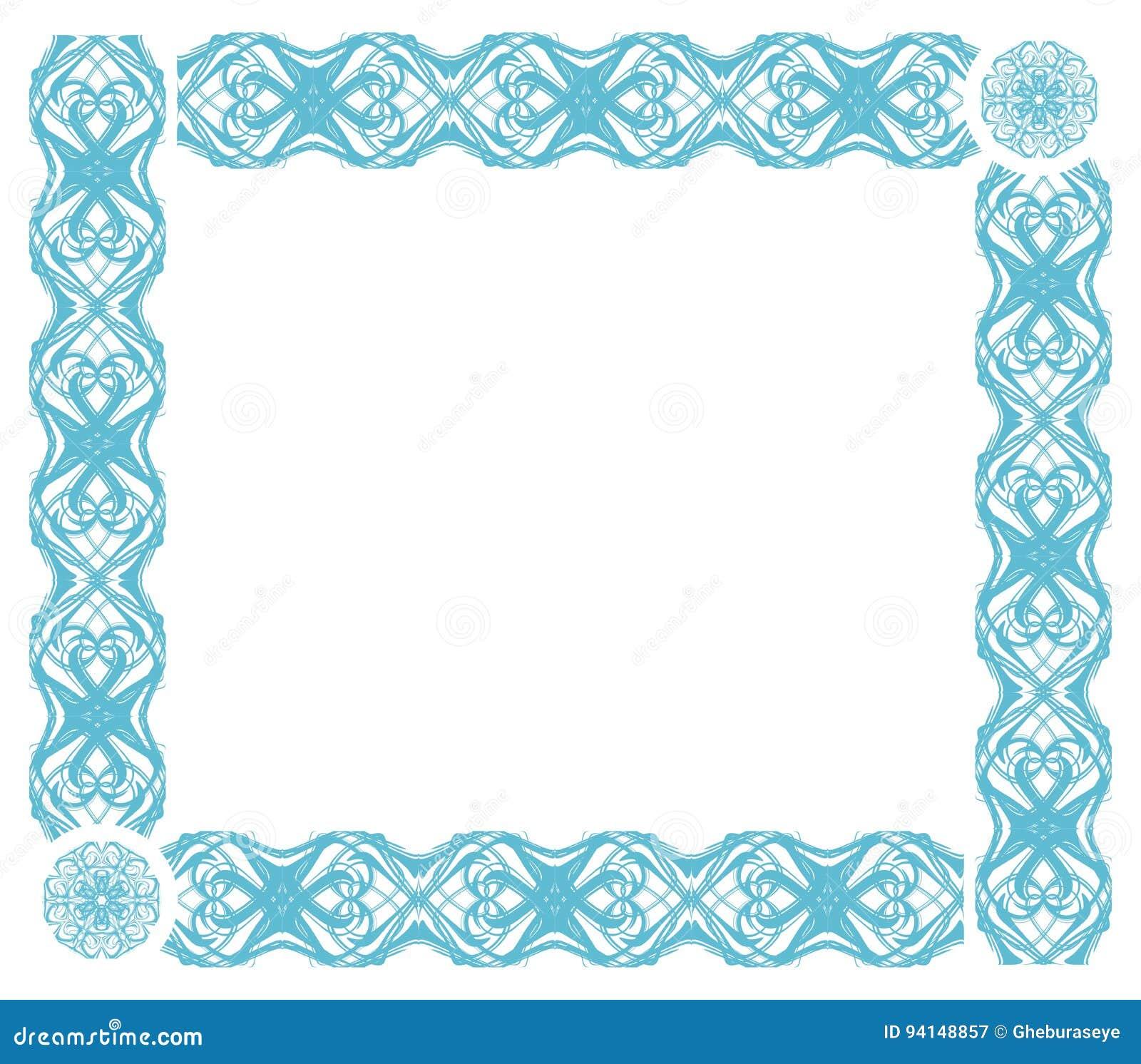 Artistic Frames In Light Blue Isolated Stock Illustration ...