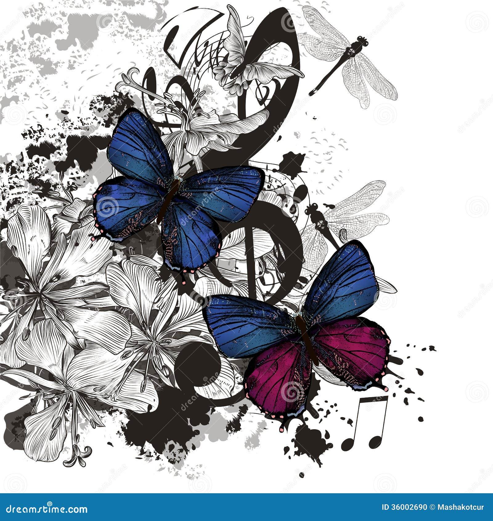 Artistic Futuristic Music Background With Grunge Elements Stock Photo - Image: 36002690