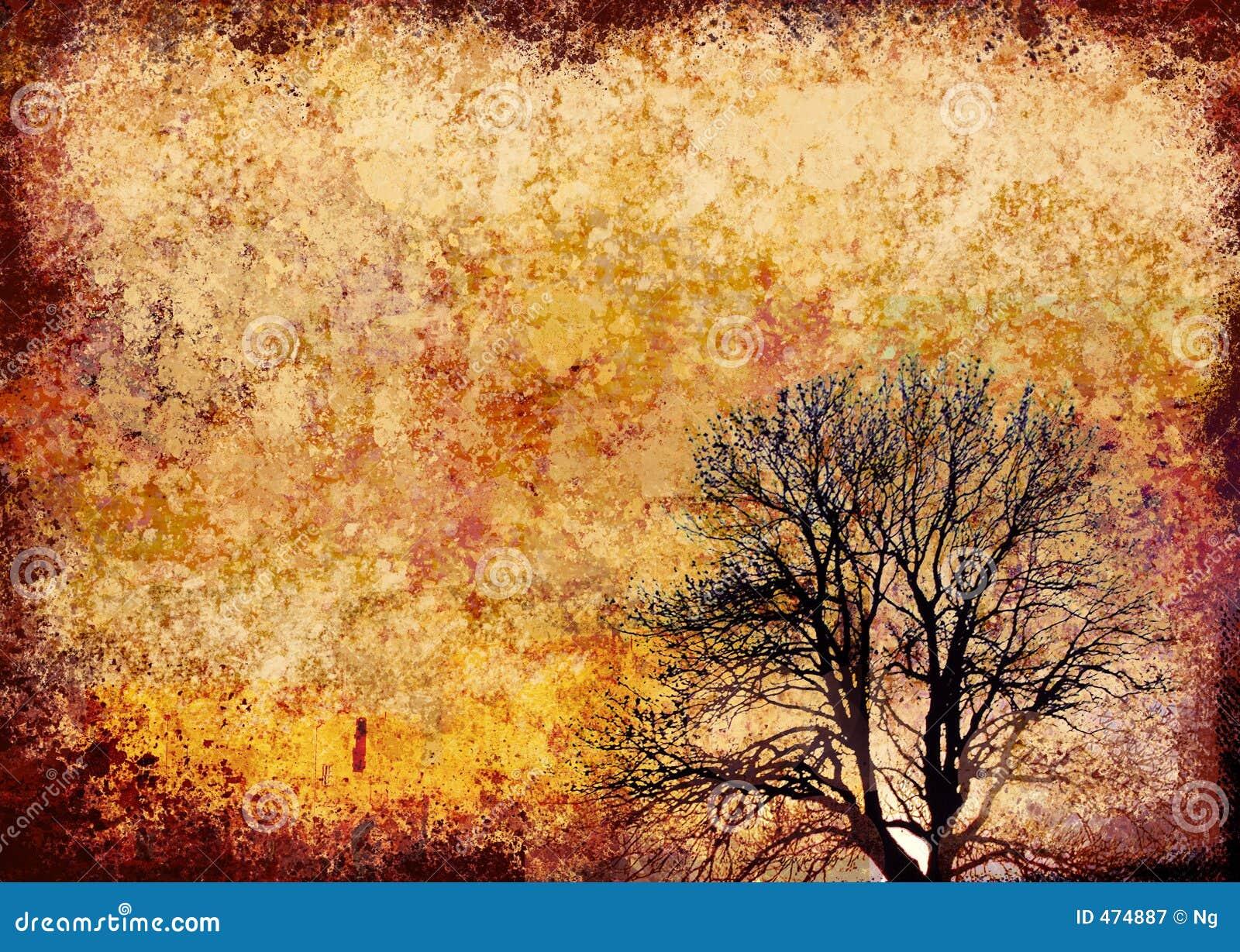 Download Artistic grunge frame stock illustration. Illustration of tree - 474887