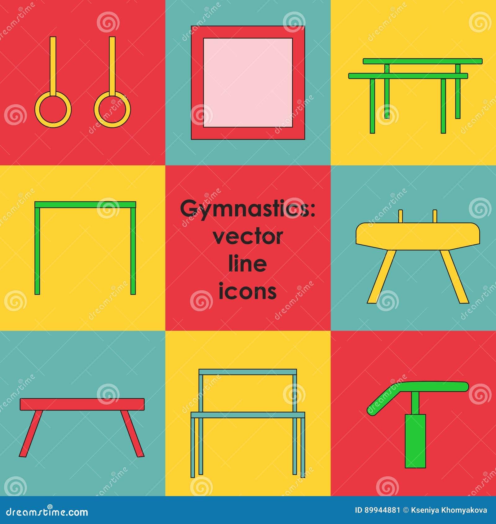 Artistic Gymnastics Equipment Stock Vector Illustration