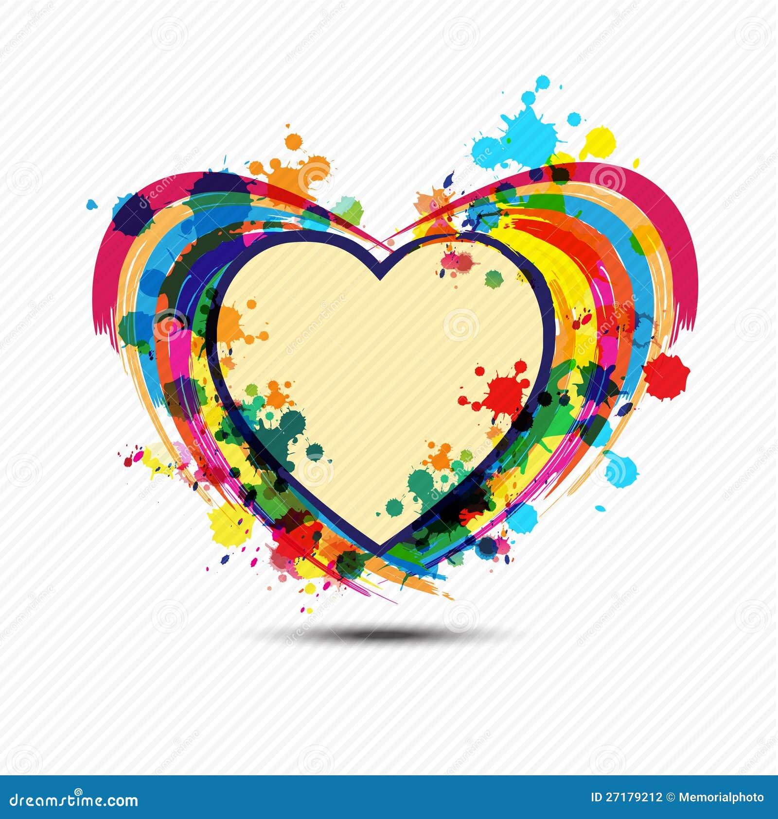 Artistic Heart Paint Design Stock Illustration - Illustration of ...