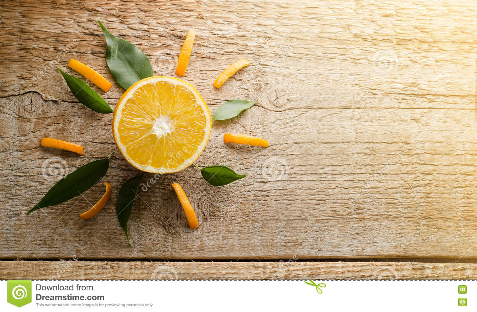 Artistic image of orange
