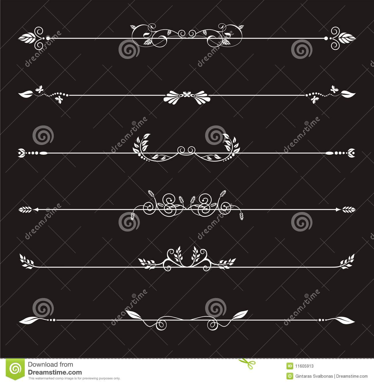 artistic line dividers stock vector  image of illustration