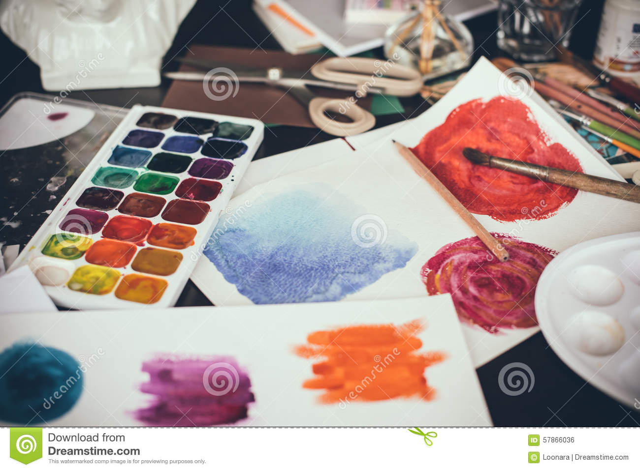 Artistic studio stock photo Image of school paint color 57866036