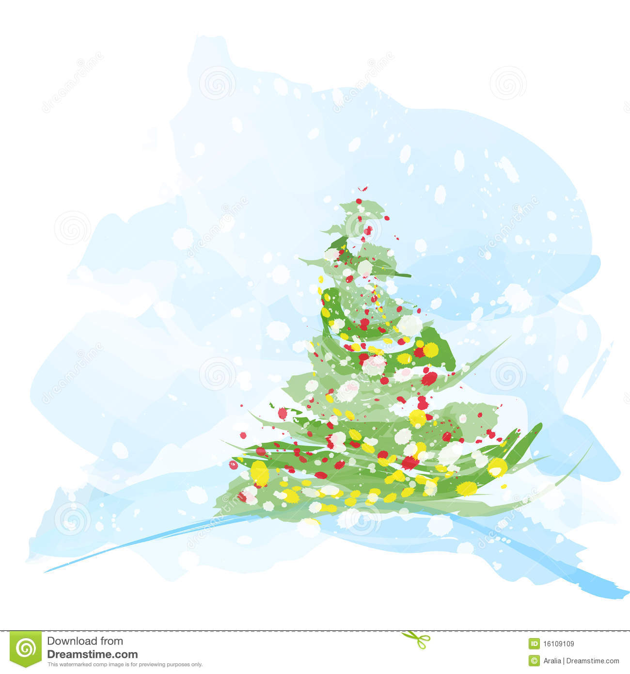 Artistic Watercolor Christmas Tree Stock Illustrations – 1,189 ...