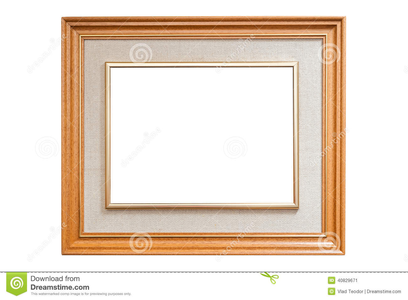 Artistic Wood Frame With Burlap Texture Stock Photo Image 40829671