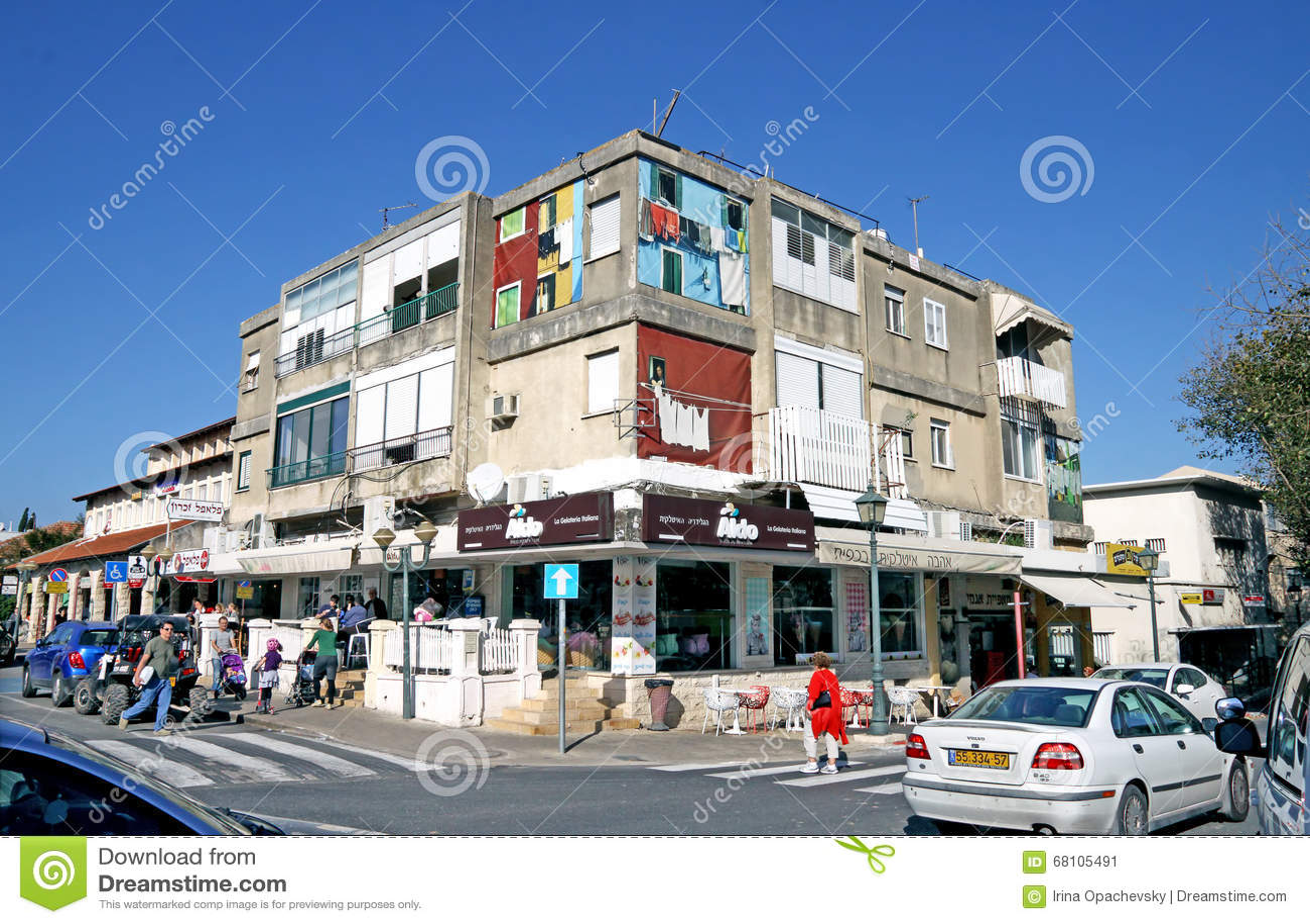 Zichron Yaakov Israel  city images : ZICHRON YAAKOV, ISRAEL FEBRUAR 28, 2016: Artistically decorated ...